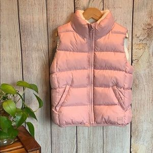 GAP Girls Warmest Quilted Sherpa Lined Puffer Vest